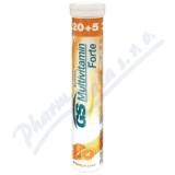 GS Multivitamin šumivý Forte pomeranč tbl. 20+5