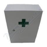 Lékárnička dřevěná bílá 43x30x14cm prázd. Steriwund