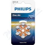 Baterie do naslouchadel PHILIPS ZA13B6A-00 6ks