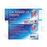 Dexoket 25 tablety por. tbl. flm. 10x25mg