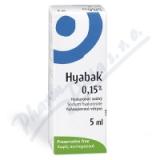 Hyabak 0. 15% gtt. oph.  5ml