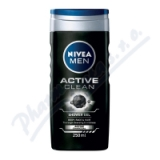 NIVEA Sprchový gel muži ACTIVE CLEAN 250ml č. 84045