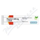 Vitamin C 600 mg + Zinek eff. tbl. 20 Generica