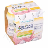 Resource Junior Fibre Jahoda por. sol. 4x200ml