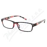 Brýle čtecí +3. 50 černo-květinové
