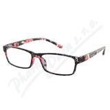 Brýle čtecí +3. 00 černo-květinové