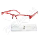 Brýle čtecí +1. 00 červeno-černé s pouzdrem
