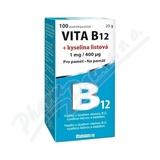 Vita B12 + kyselina listová 1 mg-400mcg tbl. 100