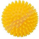 KineMAX Hedgehog Masážní míček ježek 9cm žlutý
