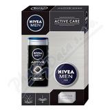 NIVEA set muži Men krém 75ml+SG Active clean 250ml