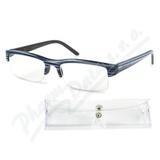 Brýle čtecí +2. 00 modro-černé s pouzdrem FLEX