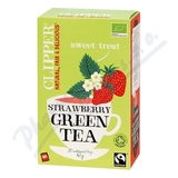 Čaj Clipper green tea with Strawberry flav. 20x2g