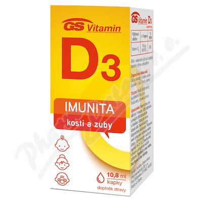 GS Vitamin D3 400IU kapky 10.8ml 2021 ČR-SK